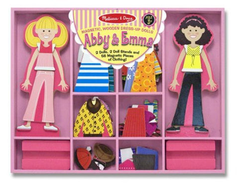 MD-14940 ABBY & EMMA MAGNETIC WOODEN DRESS UP