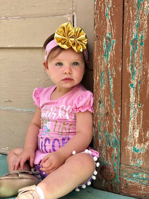 Pink and Gold Headband