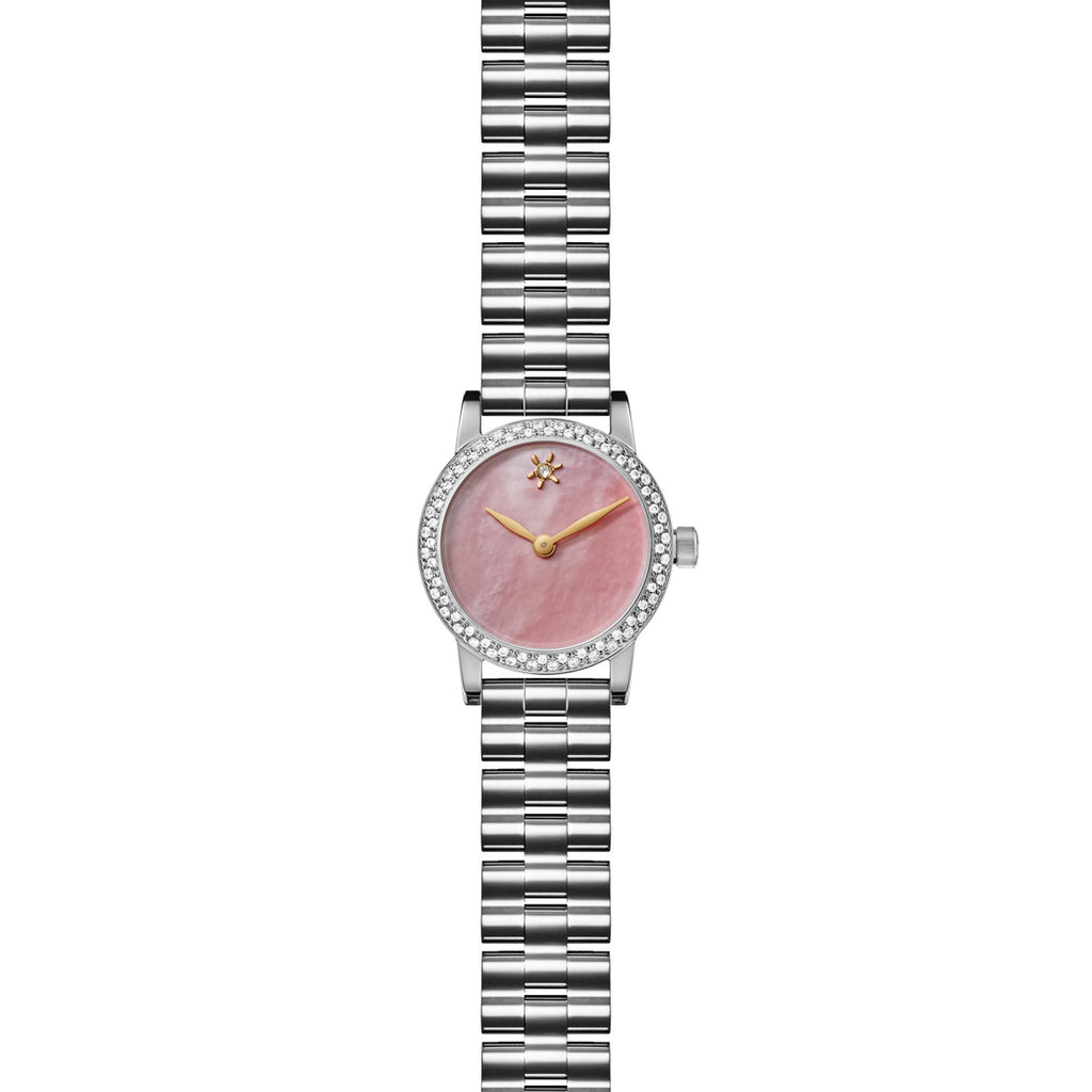 AGNES MINI WATCH - PINK MOTHER OF PEARL