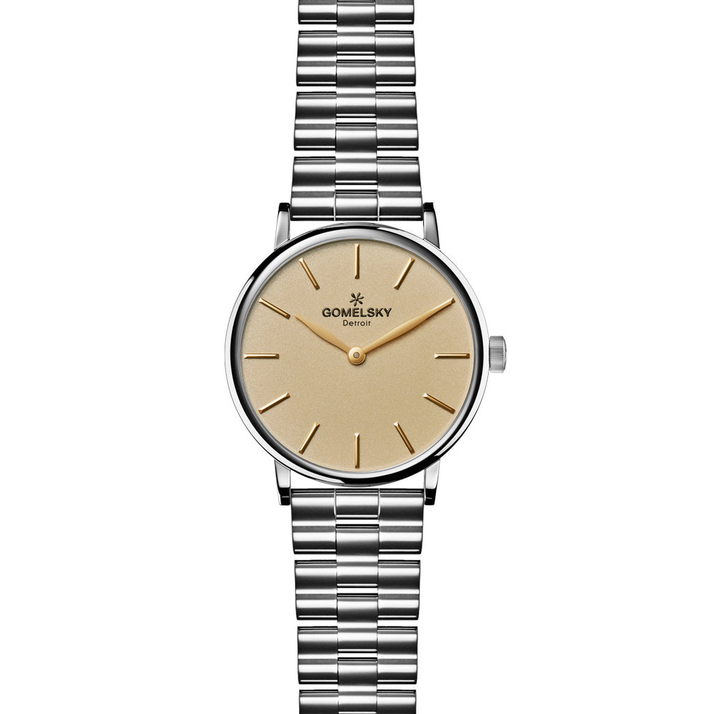 AGNES WATCH - GOLD OPALINE