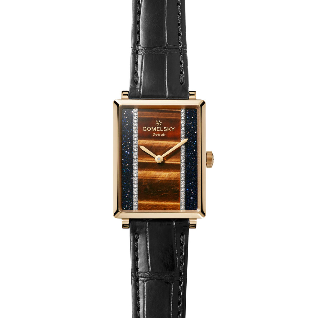 SHIRLEY WATCH - TIGERS EYE
