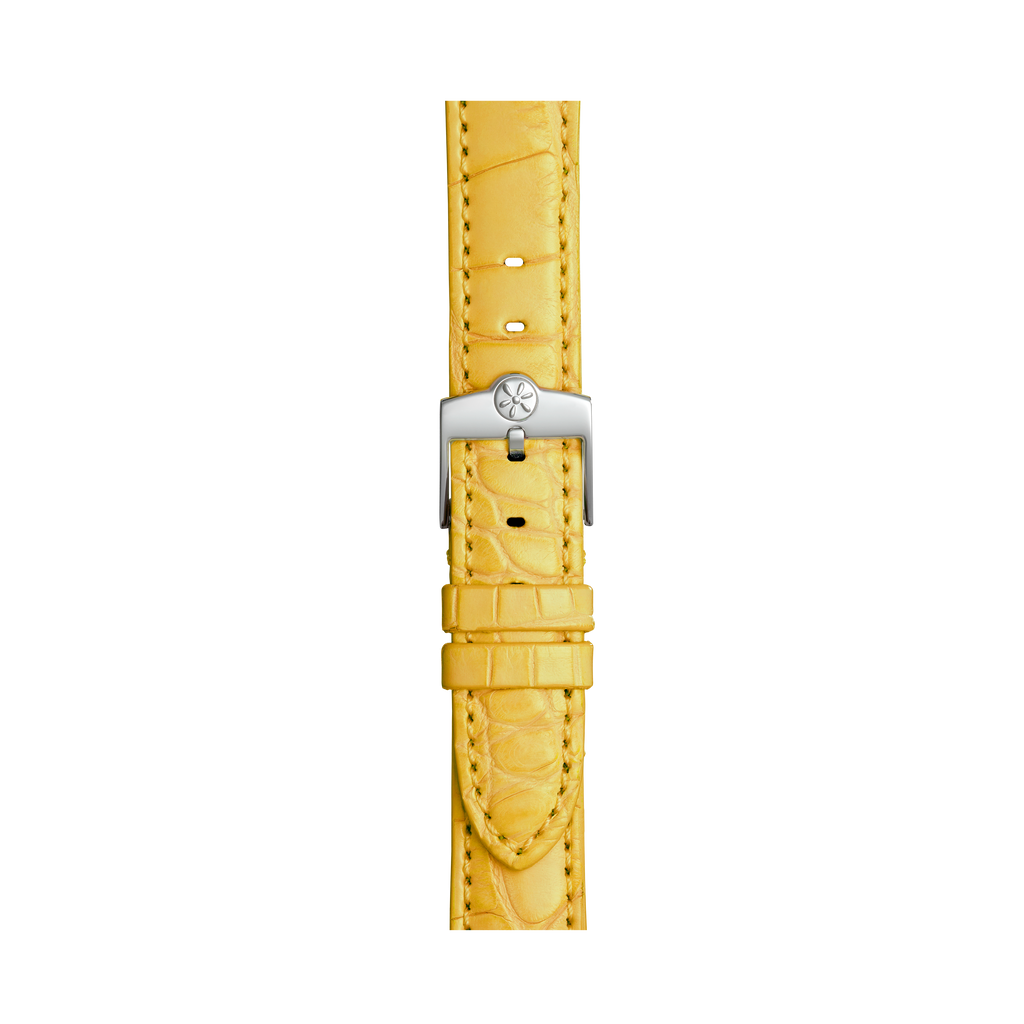 WATCH STRAP - YELLOW ALLIGATOR 16mm