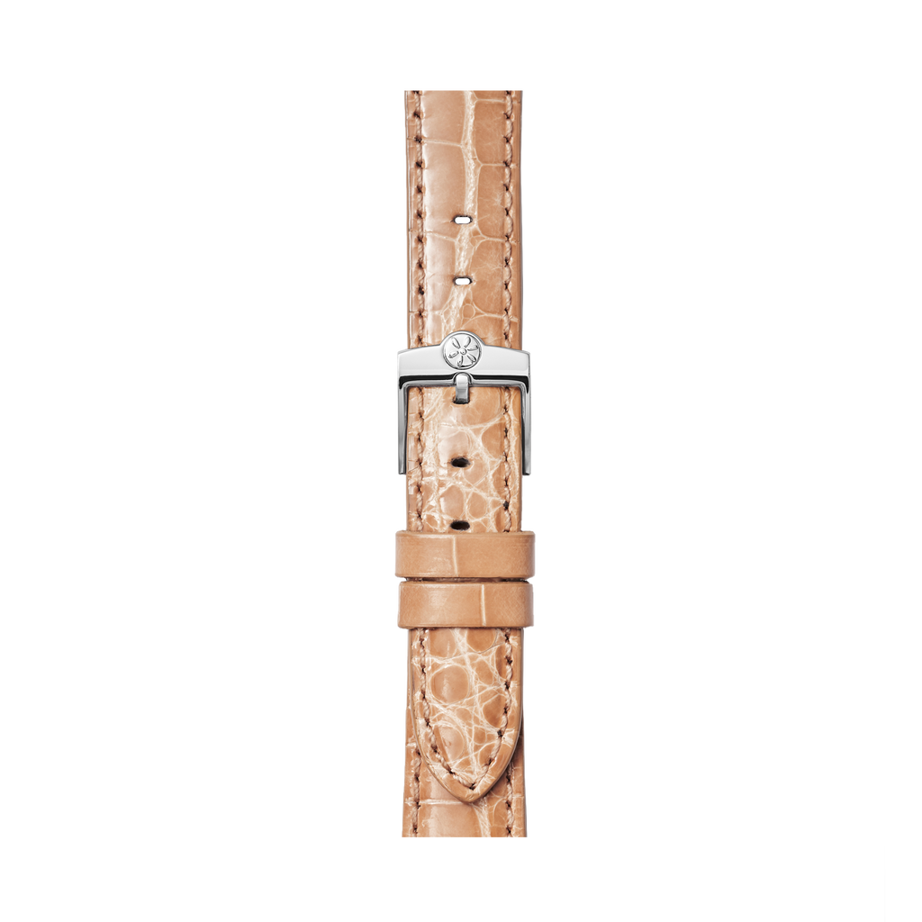 WATCH STRAP - ALMOND ALLIGATOR 16mm