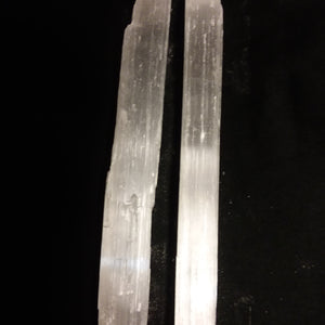 Selenite Small Sticks- Wands ( 2 pieces) Energetic Cleanser - Love Lingo