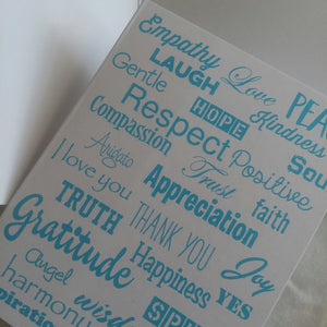 Love Lingo Thank You Card Packs (Aqua-Marine) - Love Lingo