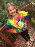Long Sleeve Tie Died Rainbow Love Lingo T-Shirt - Love Lingo