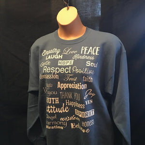 Denim Blue Love Lingo Unisex Crew Neck Sweat Shirt - Love Lingo