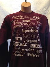 Maroon Love Lingo Unisex Crew neck Sweat Shirt - Love Lingo