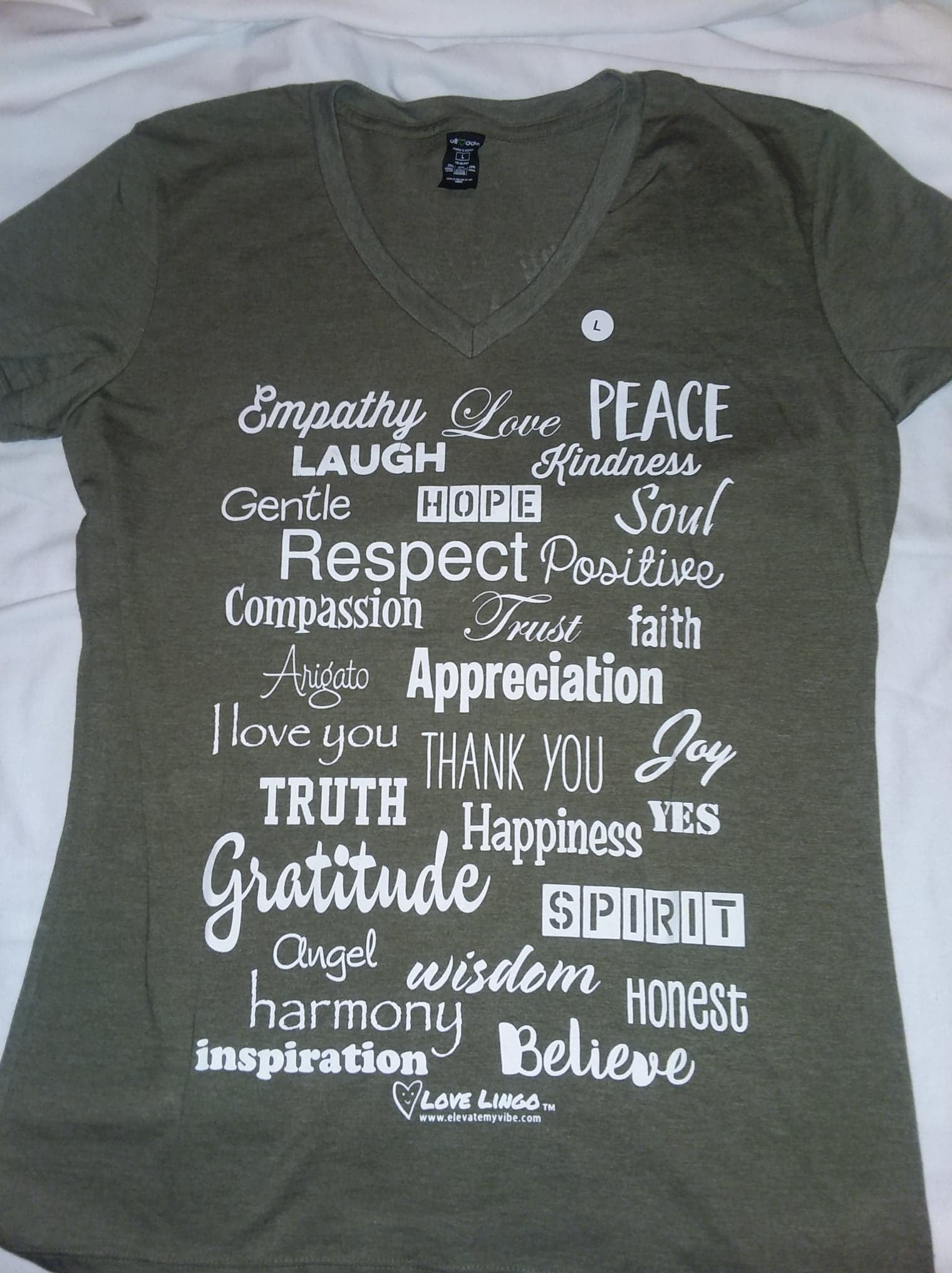 Allmade/Love Lingo Ladies V-neck Tee - Love Lingo