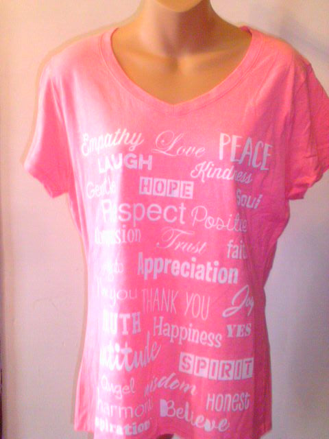 Love Lingo Neon Pink Heather Ladies V-Neck Tee - Love Lingo