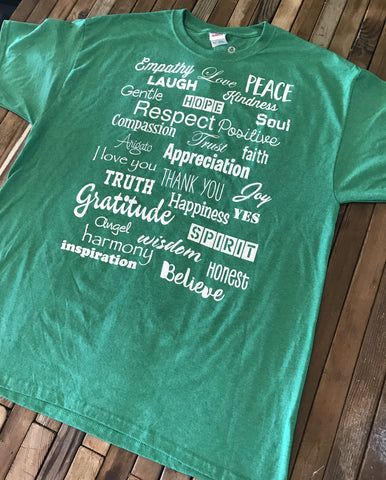Irish Heather Green Love Lingo Classic  T-Shirt - Love Lingo