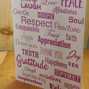 Love Lingo Thank You  Card Packs  (Mauve) - Love Lingo