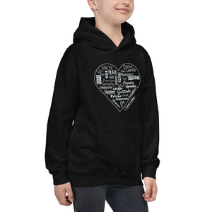 Kids Love Lingo Positive Heart Hoodie (Assorted colors)
