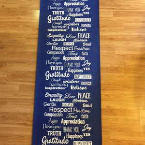 Unique Love Lingo Yoga Mats  72 x 24 x 1/4 - Love Lingo