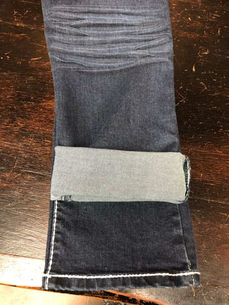 P4:13 Denim Roll Up Capri