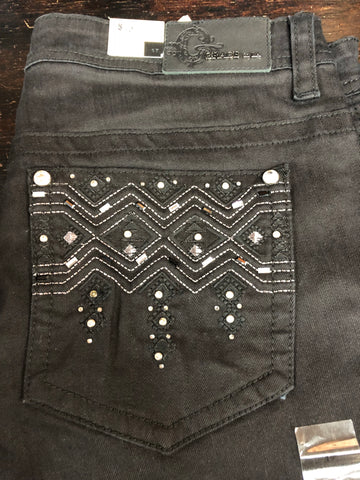 Grace Jeans Black W/Bling Back Pockets