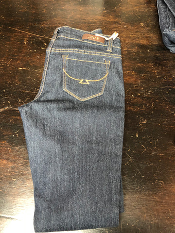 Denim Jeans W/Brown Stitching
