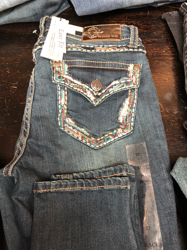 Grace Jeans Detail Stitching