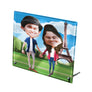 personalized photo printed on glass