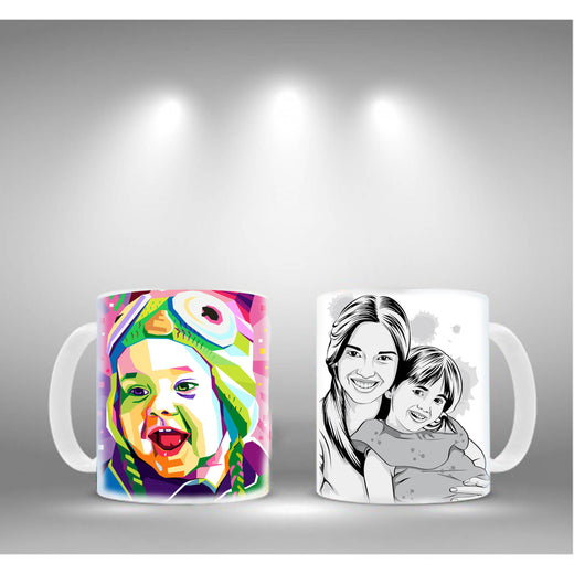Coffee mugs with printed photos
