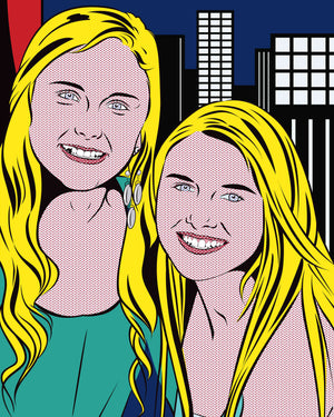 Lichtenstein Style Portrait Artwork