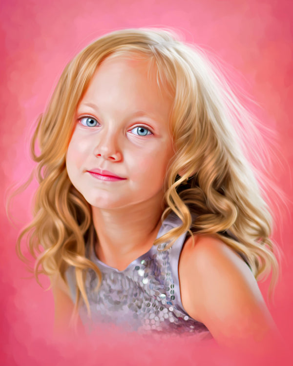 Digital oil painting portrait artists