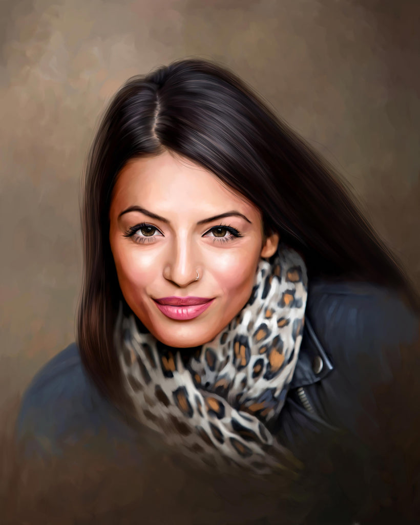 Digital Oil Painting Portrait Artwork