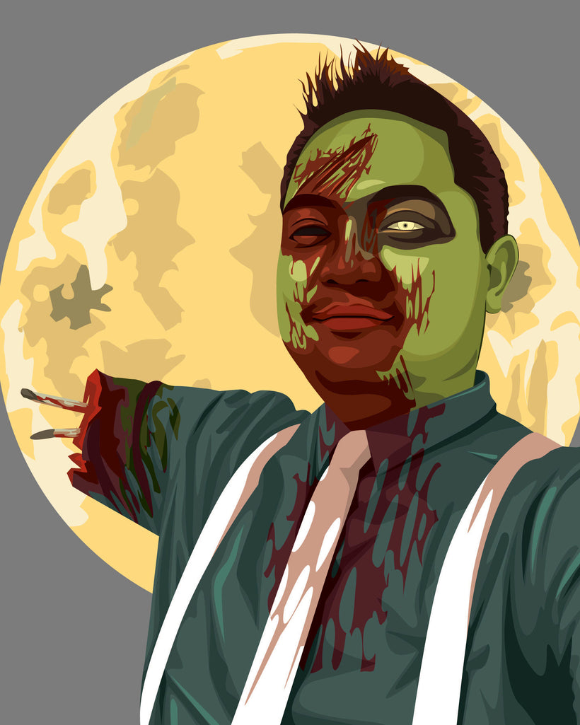 Portrait Artwork in Zombie Style