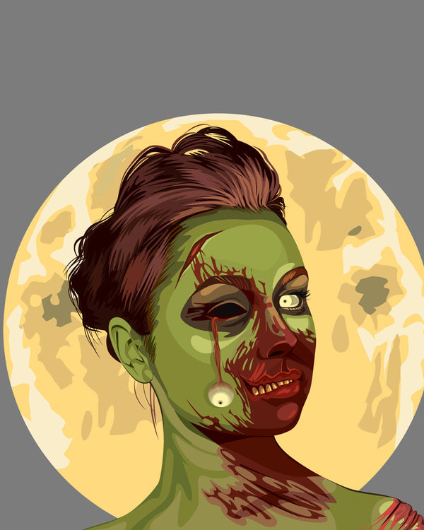 Unique Zombie Style Portraits Drawing