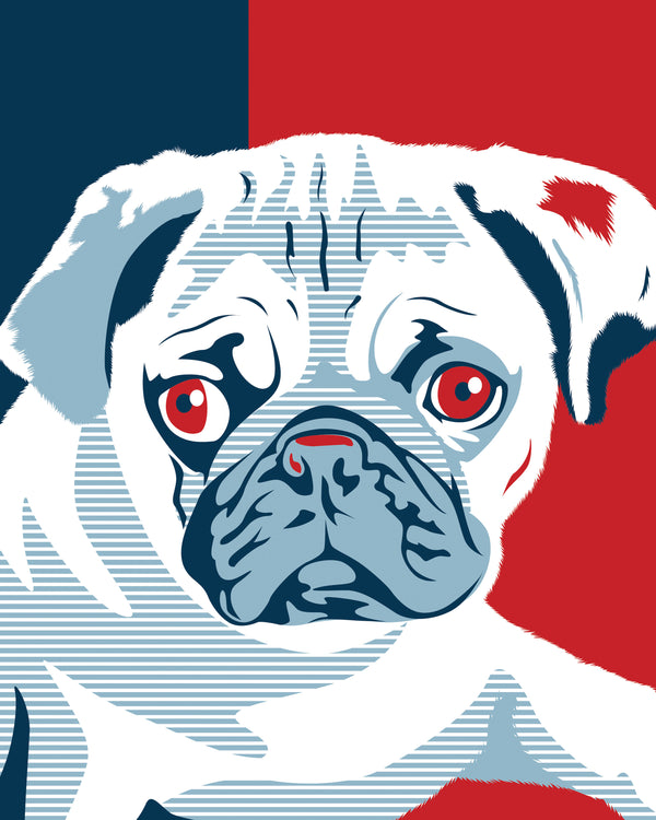 Obama Style Pet Portraits Artwork