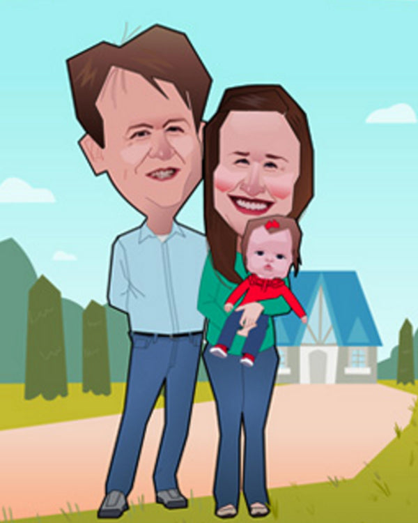 Flat Digital Caricatures Artists