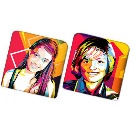 Mug Coasters with Personalized Photo
