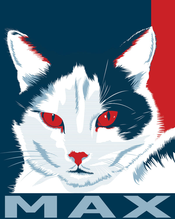 Order Pet Portraits Artwork in Obama Style