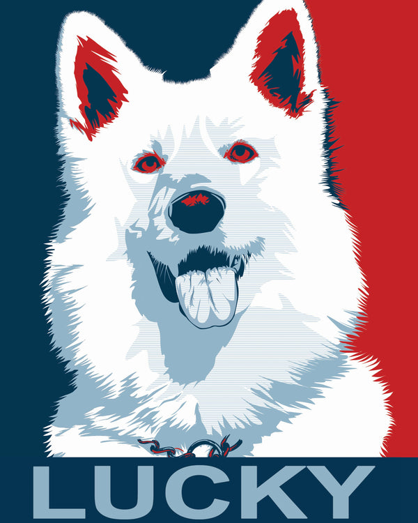Pet Portraits in Obama Style