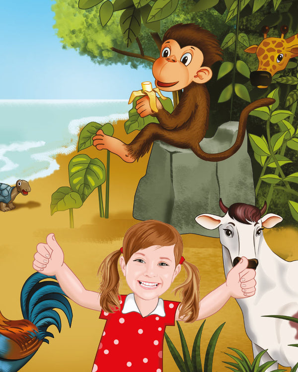personalised children's books with monkey