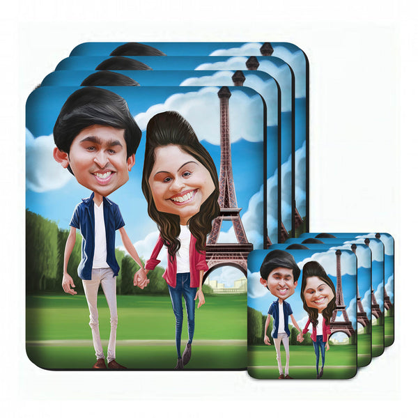 Custom image printed mug coasters