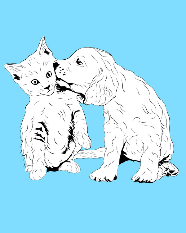 Line Art Pet Portraits Artwork