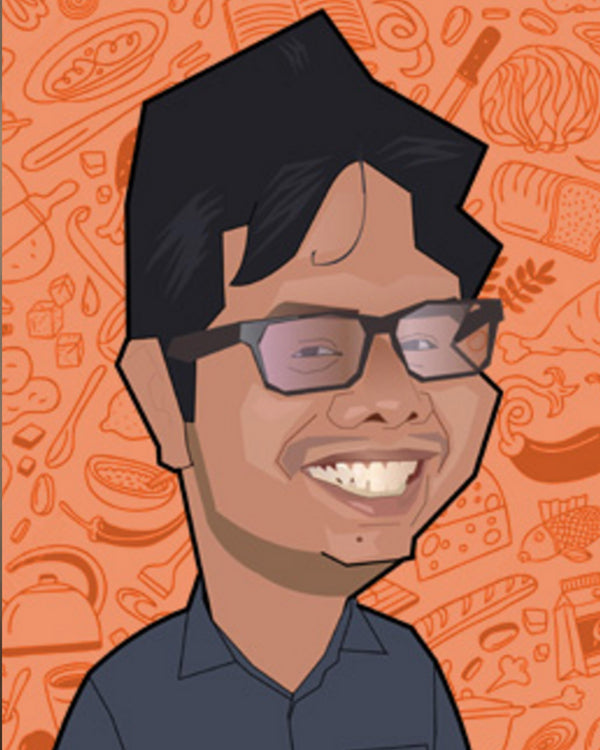 Caricatures Artwork in Flat Digital Style