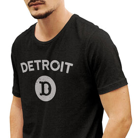 'D in Detroit' Heather Charcoal T-Shirt