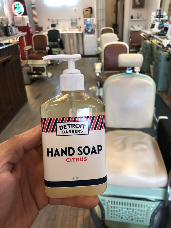 8 oz. Hand Soap - Citrus (Barber Formulated)