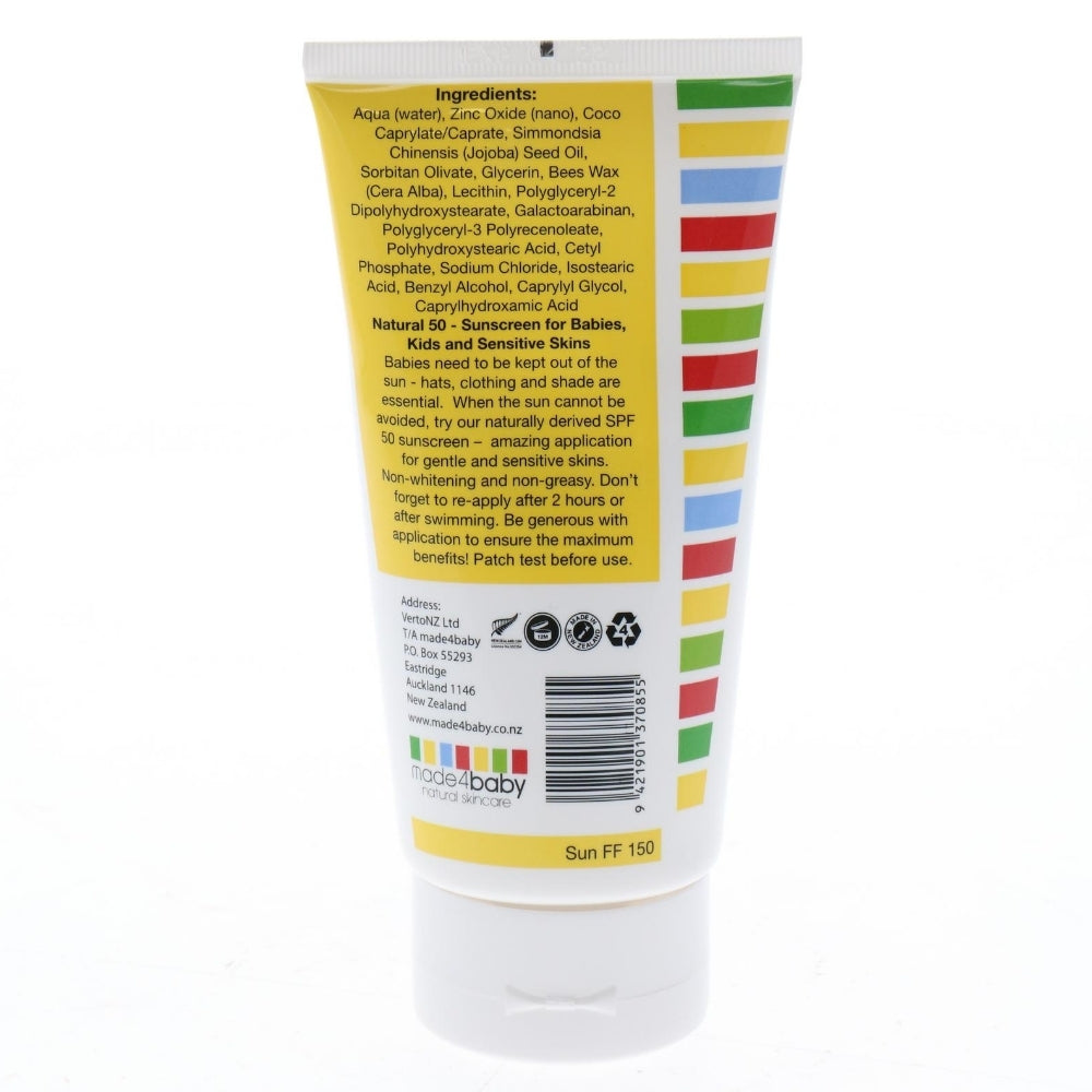 Natural Sunscreen SPF 50 (Fragrance Free) 150ml