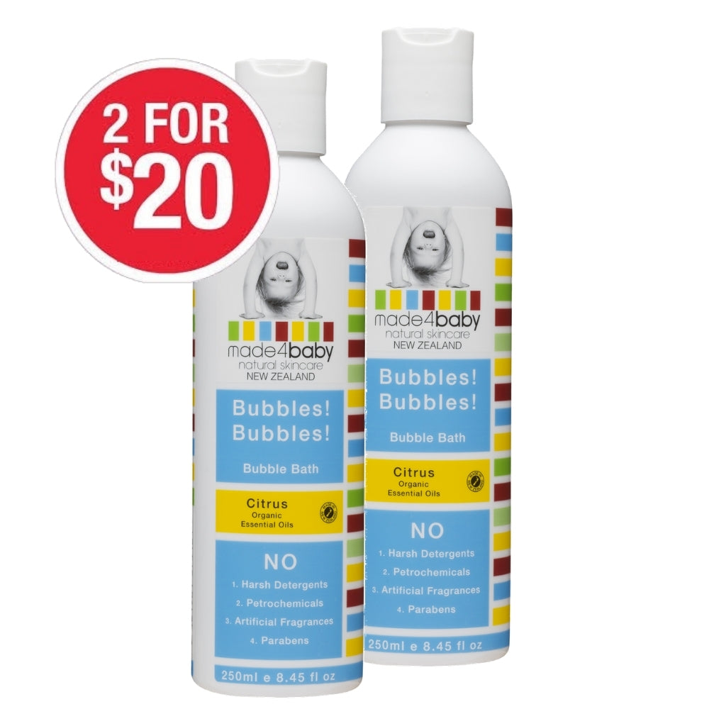 SPECIAL Bubble Bath (Organic Citrus) 250ml 2 for $20