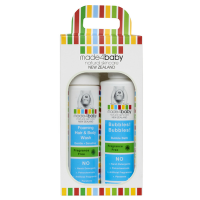 Toddler Essential Pack (Foaming Hair and Body Wash and Bubble Bath - Fragrance Free) x2 Pack