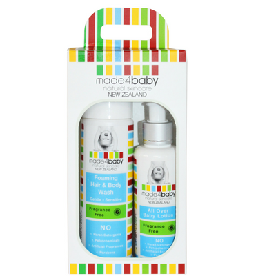 Skin Essential Pack (Foaming Hair and Body Wash and All Over Baby Lotion - Fragrance Free) x2 Pack