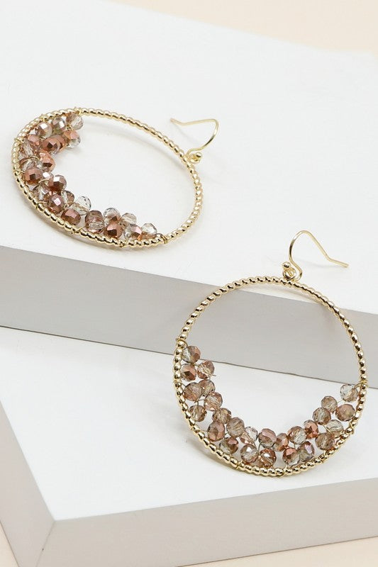 Dangle Beaded Hoops
