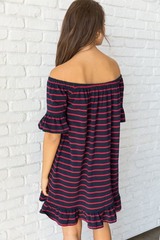 Preppy Chic Striped Dress