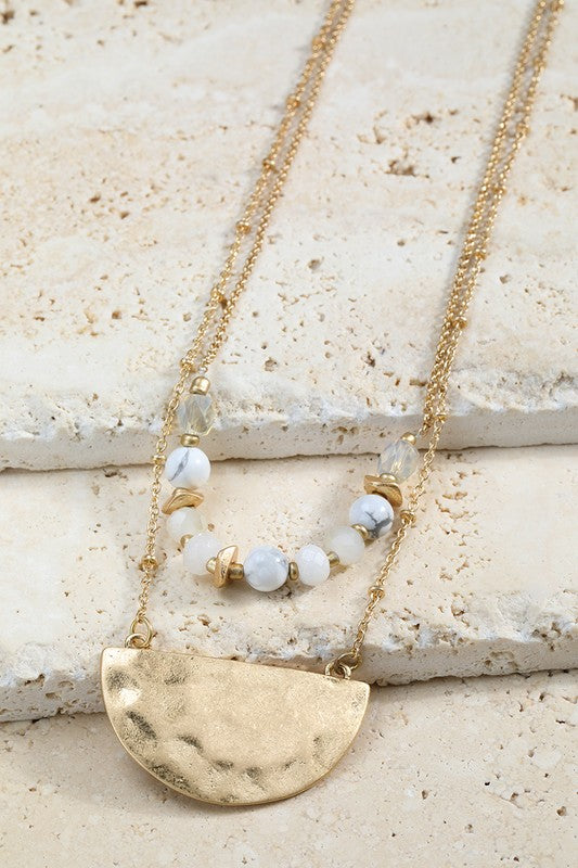 Layered Half Moon Necklace