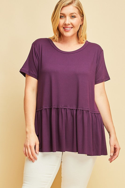 Soft Ruffle Tops, More Colors