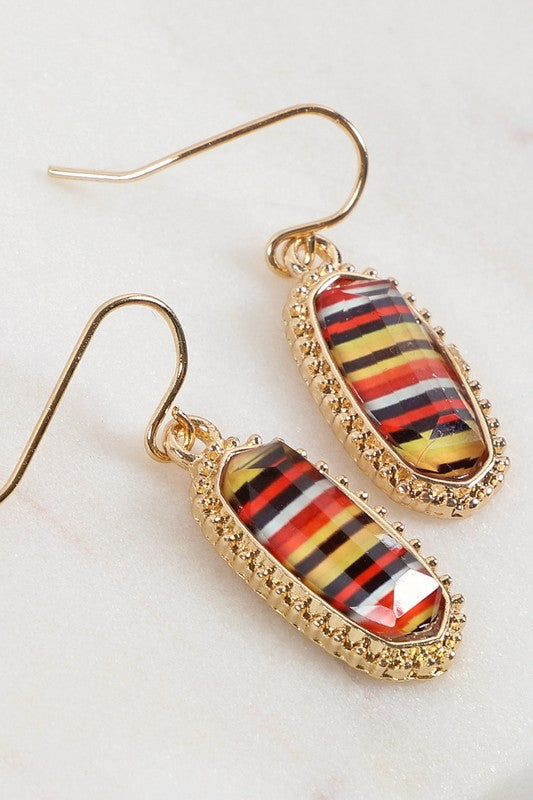 Fall Striped Earrings