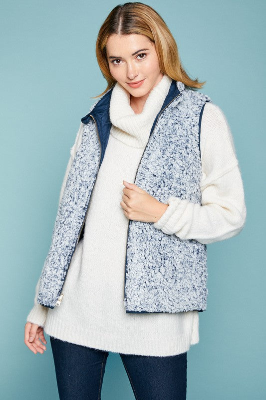 Flecked Reversible Vest - 2 Colors